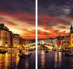 """Рулонная фотоштора """" Вечерняя Венеция"""""""